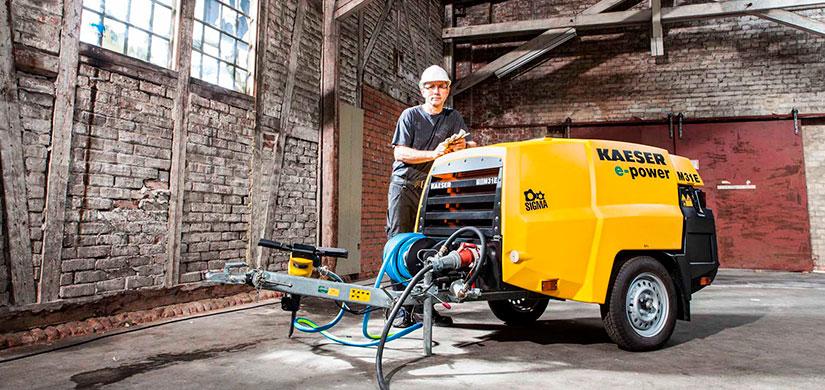 Kaeser muestra en Bauma 2016 sus nuevos compresores eléctricos para obras